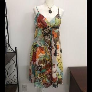 Diane Von Furstenberg silk shirt Sundress